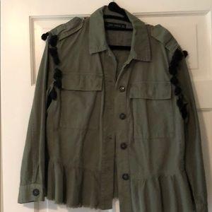 Zara embroidered field jacket